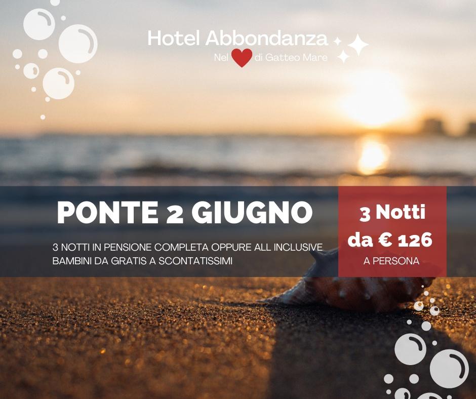 Hotel Abbondanza Gatteo Mare – Offerta ponte 2 Giugno a Gatteo Mare
