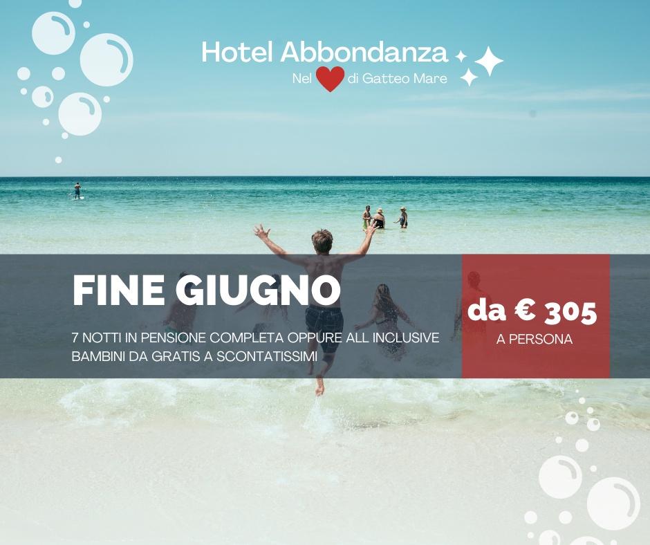 Hotel Abbondanza Gatteo Mare  3 Stelle  – Offerta Fine Giugno